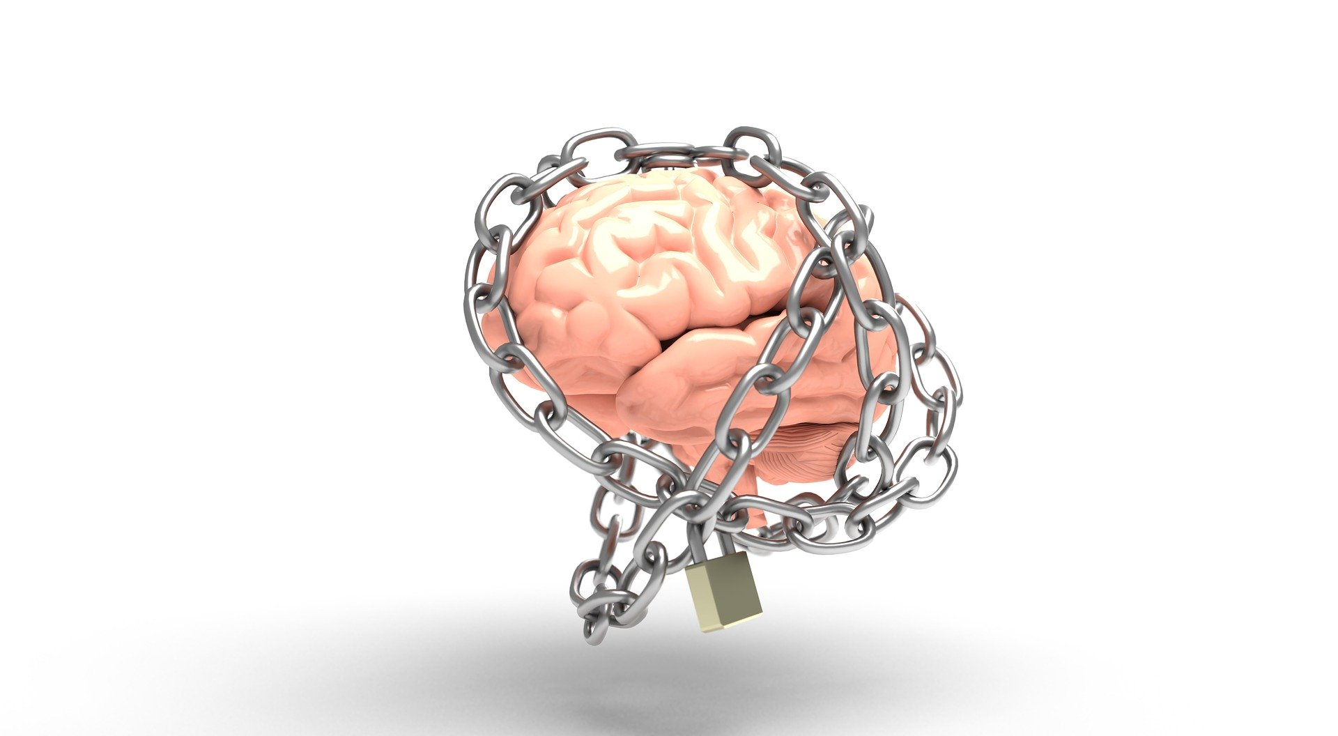 brain and thoughts guarded from negativity